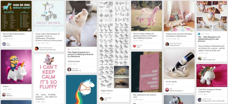 Oh - let's start with Unicorn Marketing - it's trending on Pinterest.