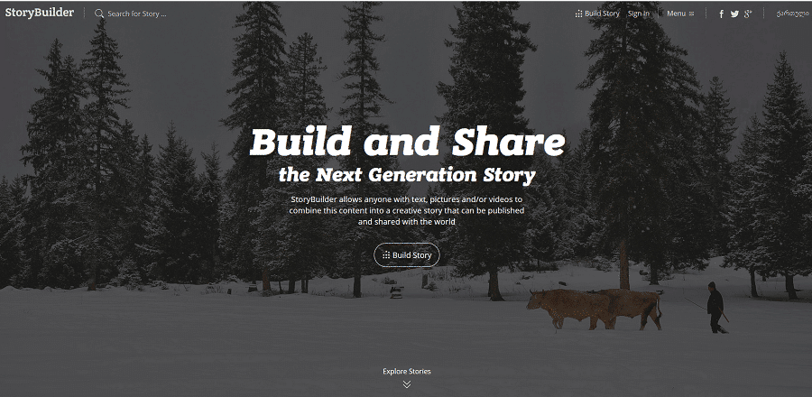 Clean und Open Source: StoryBuilder