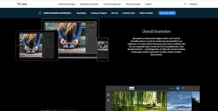 Grafiktool zur Bildbearbeitung: Adobe Lightroom