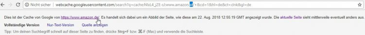 google cache amazon.at